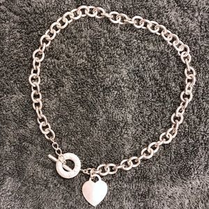 Tiffany & Co Authentic heart toggle necklace